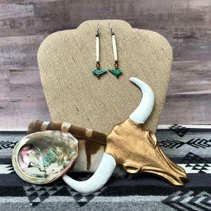 Native American Boho Southwestern Fetish Earrings